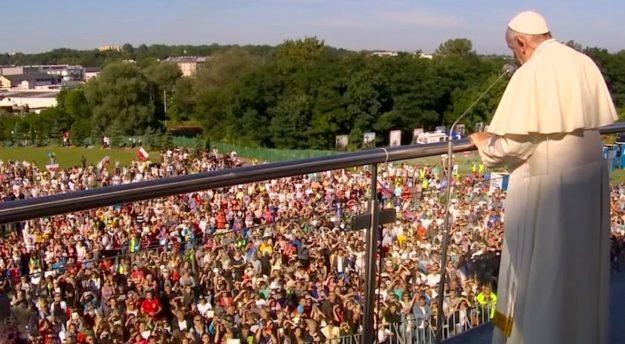 L'incontro di Papa Francesco con la folla alle Giornate Mondiali della Gioventù 2016 a Cracovia