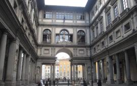 Il loggiato della Galleria degli Uffizi