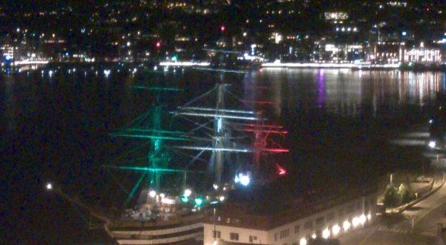 Nave Vespucci nel porto di Oslo