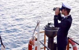 Un cadetto dell'Accademia Navale su Nave Vespucci