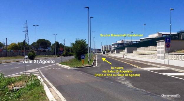 Il controviale che porta alla nuova Caserma dei Carabinieri a Castello sarà intitolato a Salvo D'Acquisto