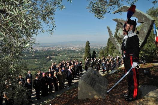 Il monumento ai carabinieri di Fiesole sul colle di San Francesco