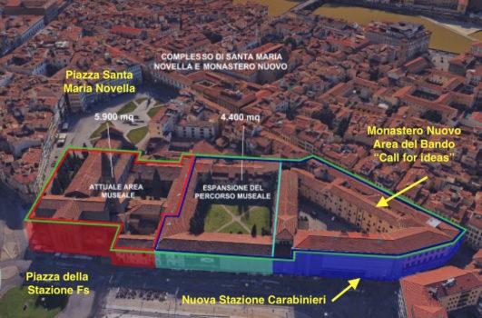 Il progetto complessivo dell'ex Scuola Marescialli in piazza Stazione a Firenze