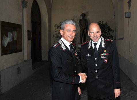 Da sin. i colonnelli Giuseppe De Liso e Marco Lorenzoni