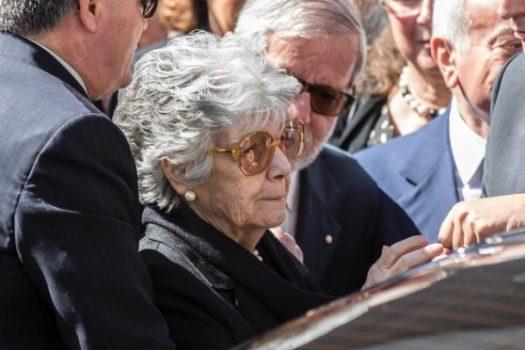 La moglie Franca Pilla Ciampi ai funerali del Presidente Ciampi