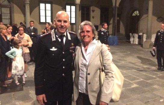 Il colonnello Marco Lorenzoni e il sindaco di Fiesole Anna Ravoni