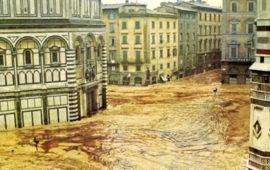Alluvione di Firenze, una tragica scena di piazza del Duomo