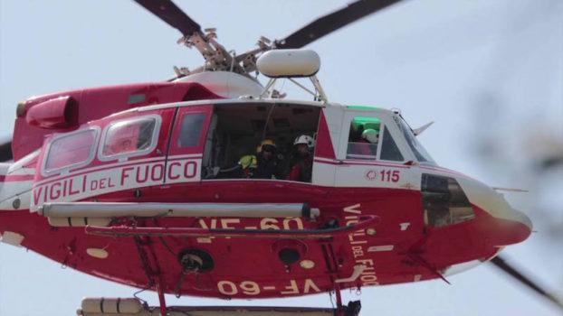 L'elicottero Drago 60 dei Vigili del Fuoco di Bologna