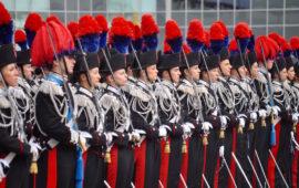 Allievi marescialli Carabinieri durante una cerimonia