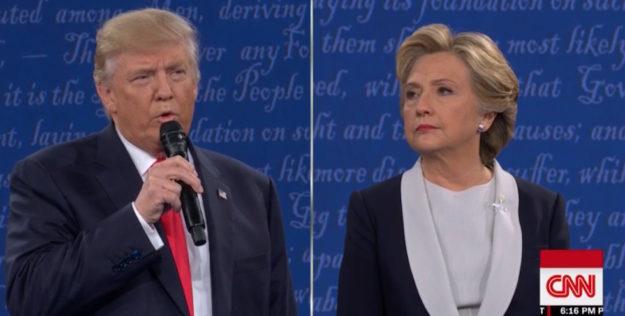 Gelido inizio del secondo dibattito tv tra Donald Trump e Hillary Clinton