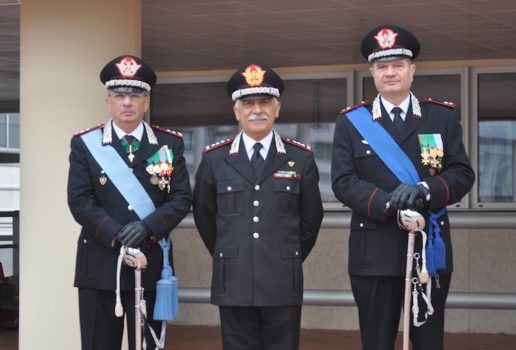 Da sin i generali Aldo Visone, Riccardo Amato e Gianfranco Cavalli