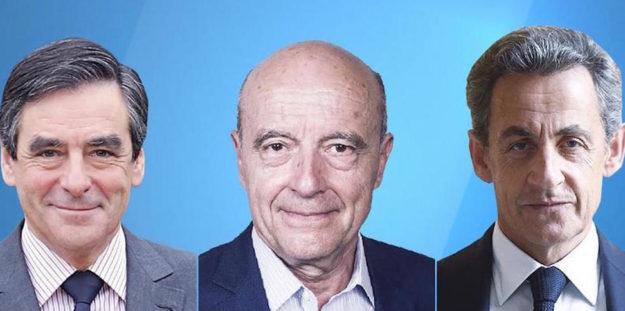 Da sin François Fillon, Alain Juppé, Nicolas Sarkozy