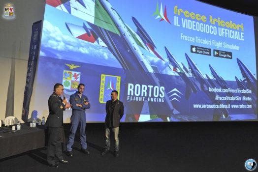La presentazione del primo videogioco ufficiale delle Frecce Tricolori