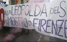 La manifestazione non autorizzata contro Renzi a Firenze il 5 novembre