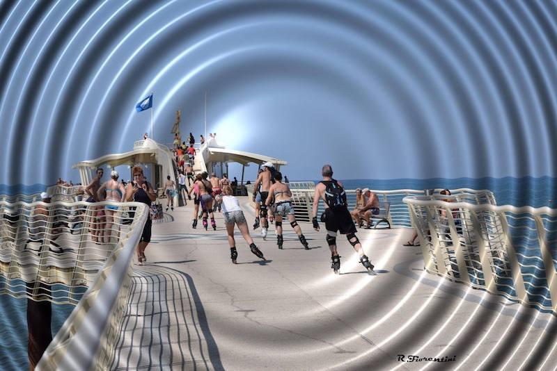 Rotanti sul pontile del Lido di Camaiore (Riccardo Fiorentini)