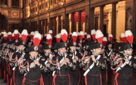 La Banda dei Carabinieri nel piazzale degli Uffizi