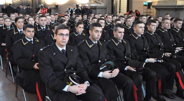 Un gruppo di allievi della Scuola Marescialli Carabinieri