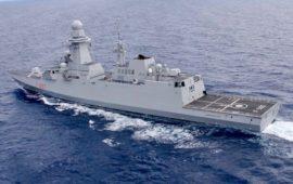 La Fregata multiruolo Carabiniere (F593) in navigazione