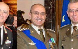 I generali Tullio Del Sette, Danilo Errico e Claudio Graziano