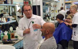 Domenico Di Mascolo nel suo negozio in via Faenza