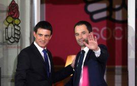 Manuel Valls e Benoit Hamon, vincitore delle primarie della sinistra in Francia