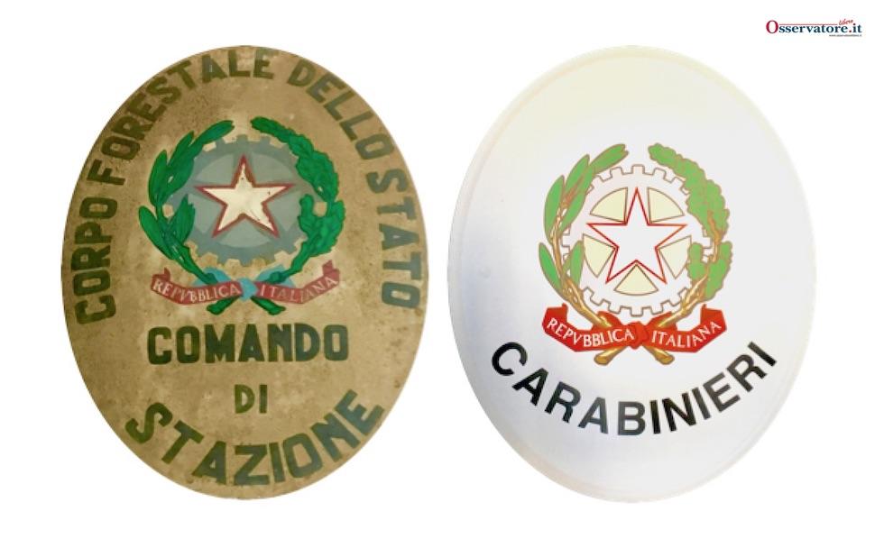 Lo storico ovale delle caserme della Forestale lascia il posto a quello dei Carabinieri