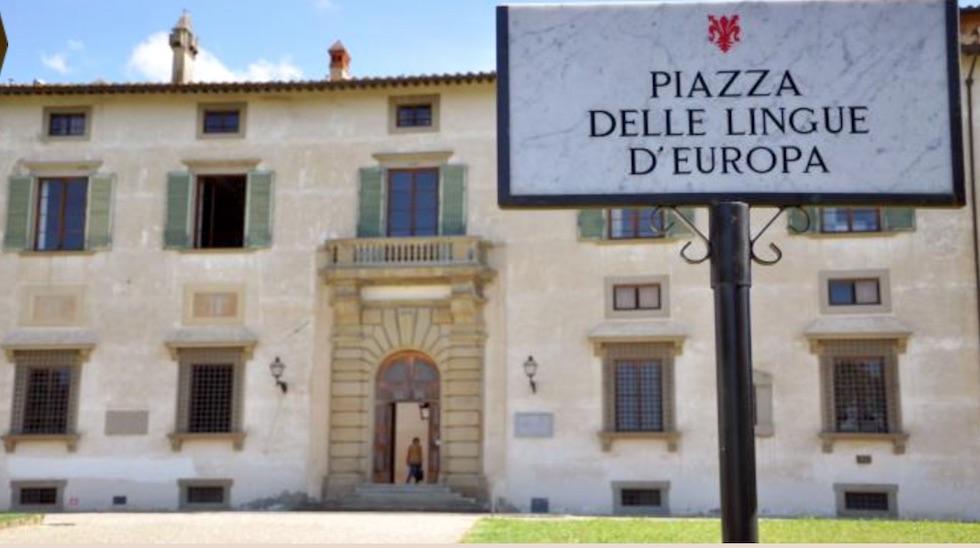 Il piazzale dove ha sede l'Accademia della Crusca a Firenze