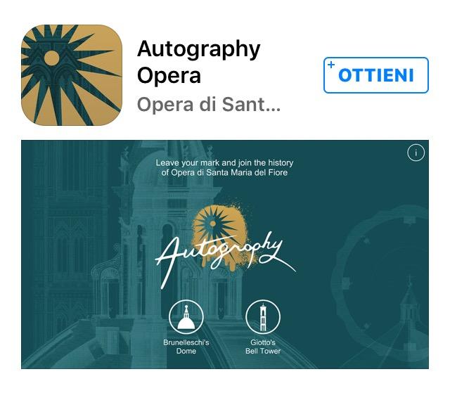 L'App di Autography scaricabile su Ios e Android