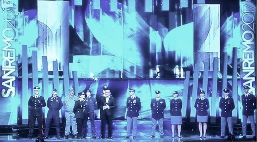 Carabinieri e Poliziotti alla finale di Sanremo 2017