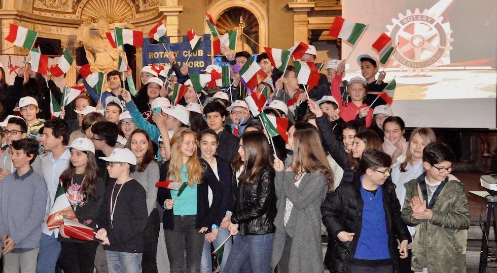 Festeggiati i vincitori del concorso del Rotary sul Tricolore italiano