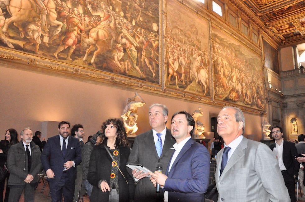 da destra Luigi Salvadori, Dario Nardella, Simone Bettini