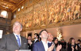 Nuova luce nel Salone dei Cinquecento in Palazzo Vecchio