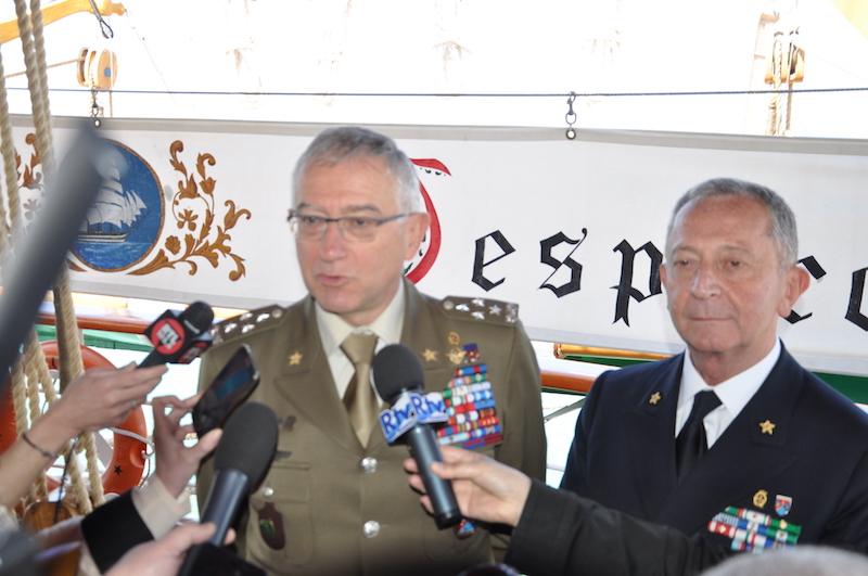 Generale Graziano e ammiraglio Girardelli