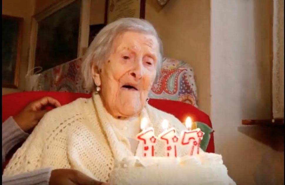 Emma Morano il giorno del suo 117° compleanno