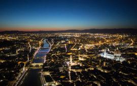 Illuminazione a led per Firenze entro il 2018 (Foto Massimo Sestini 2015 per Polizia di Stato)