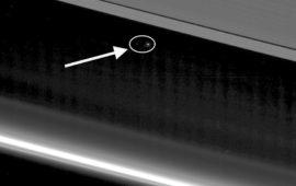 Terra e Luna viste da Saturno