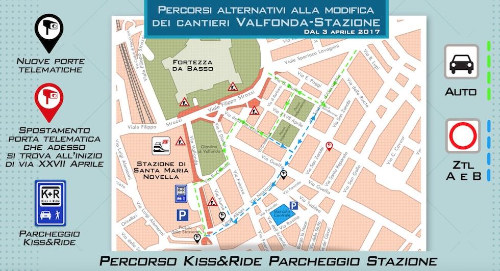 La mappa per raggiungere la Stazione di Firenze
