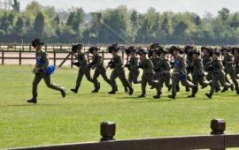 Un reparto di Bersaglieri alla festa Esercito 2017