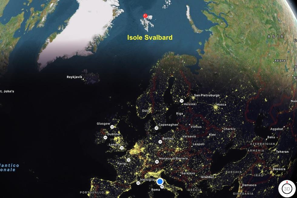 mappa Svalbard