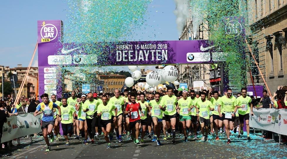 La corsa Deejay Ten edizione 2016 a Firenze