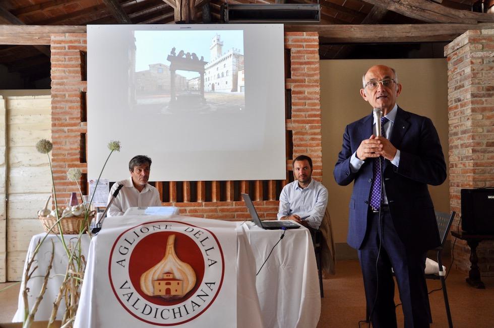 Pier Luigi Rossi al convegno sulla tutela dell' aglione
