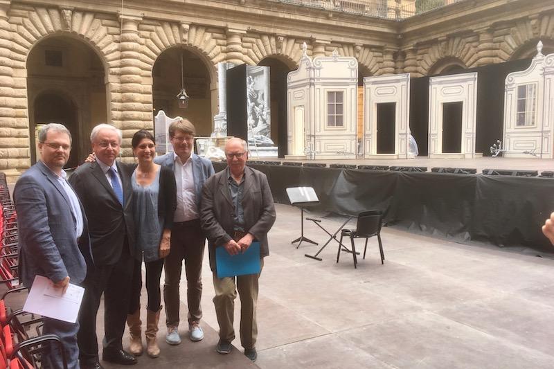 Alessandro D'Agostini, Cristiano Chiarot, Manu Lelli, Pierangelo Conte e Mauro Linari alla presentazione de La Cenerentola