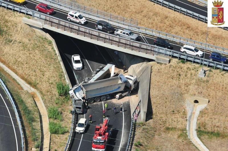 Foto area dell'incidente (fonte Polizia Stradale)