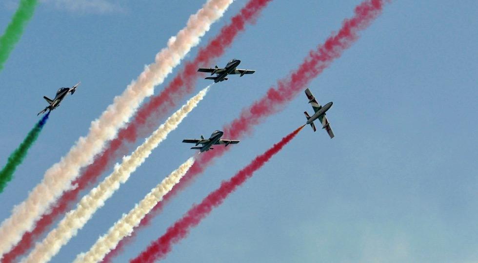 Frecce Tricolori sul cielo di Marina di Grosseto