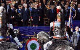 Il palco presidenziale alla Festa della Repubblica 2017