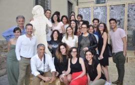 Il gruppo di studenti di Architettura che ha lavorato al progetto