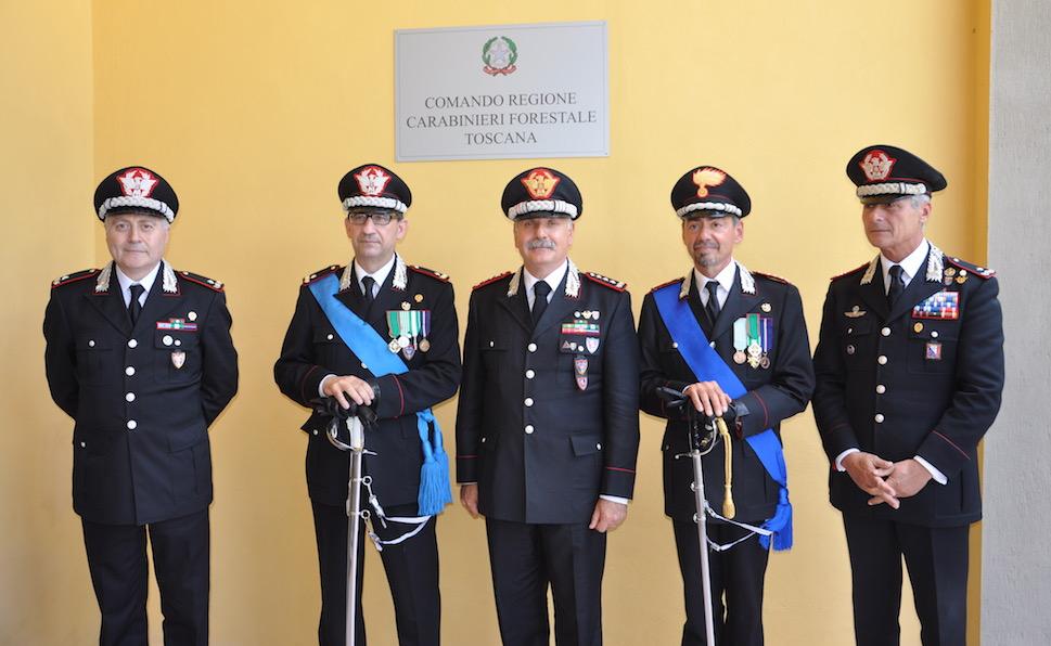 Da sin. i generali Palmieri, Vadalà, Ricciardi, colonnello Folliero, generale E. Saltalamacchia