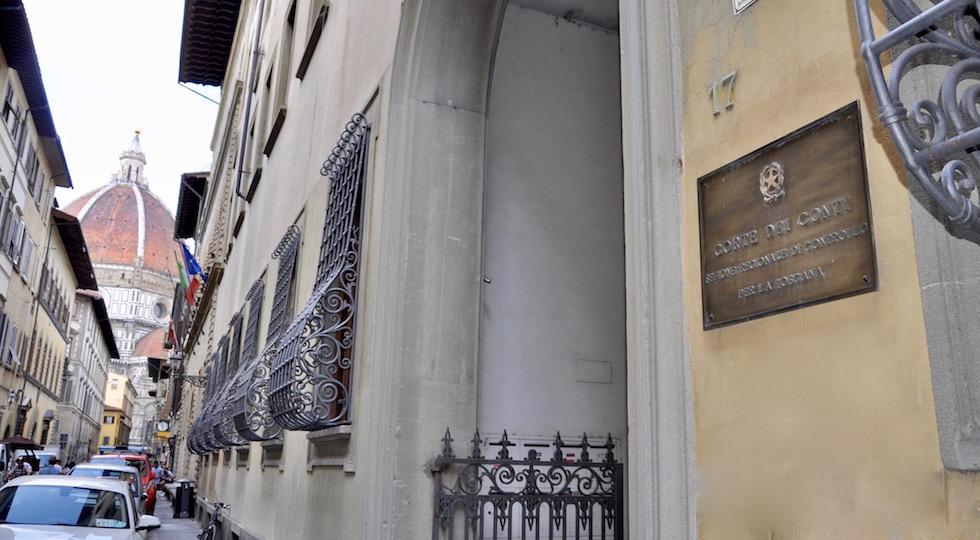 La sede della Sezione di Controllo toscana della Corte dei Conti