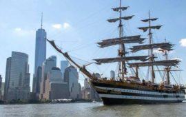 Nave Vespucci in arrivo a New York