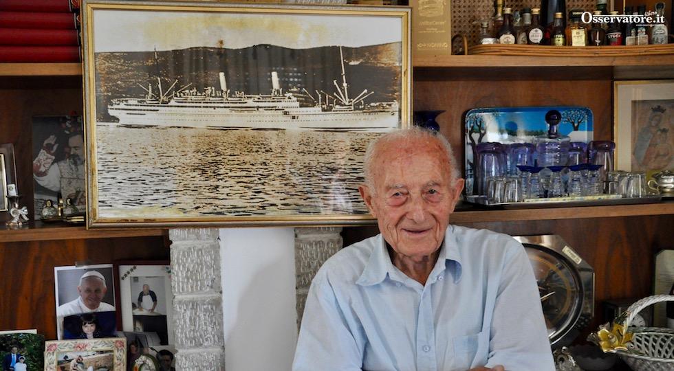 Corrado Codignoni, 96 anni, superstite della tragedia del Conte Rosso